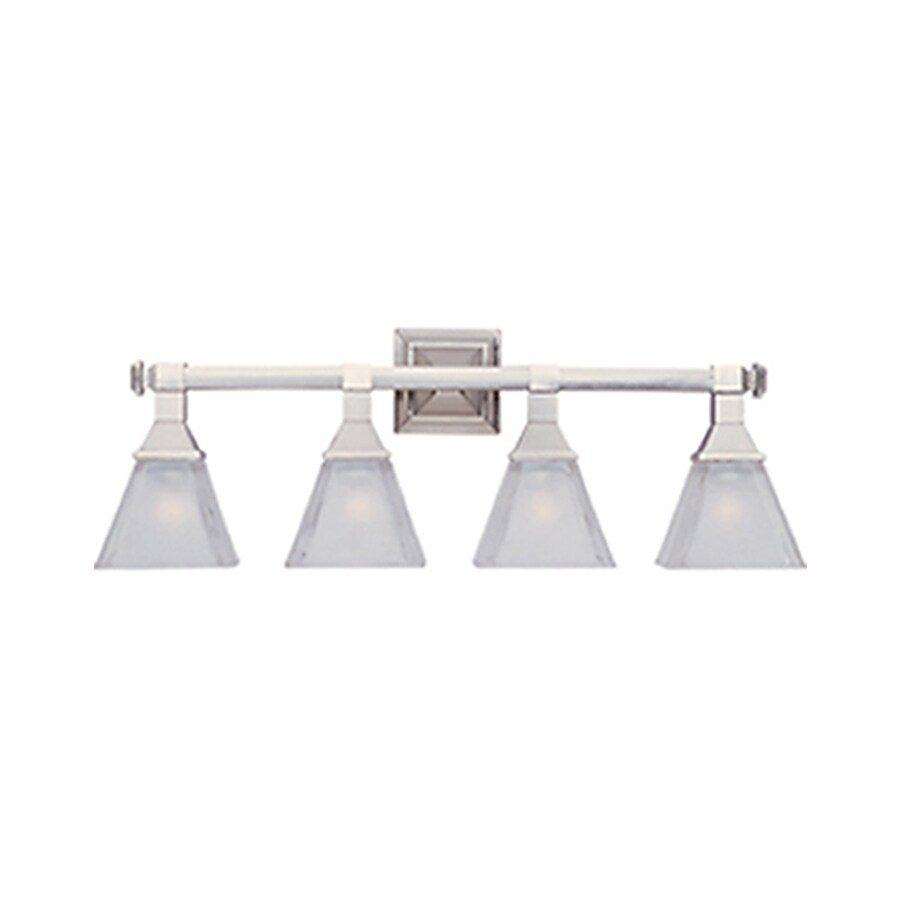 Pyramid Creations Brentwood 4-Light 9.5-in Satin nickel Cone Vanity Light