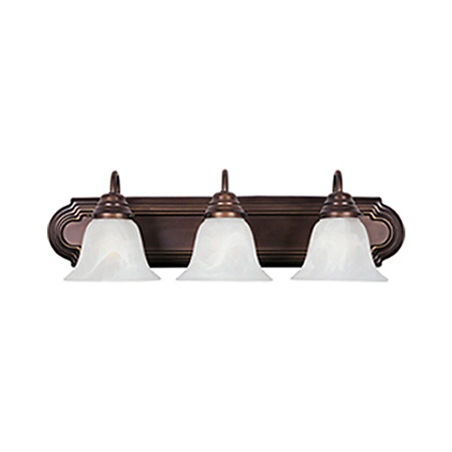 Pyramid Creations Essentialss 3-Light 7-in Oil-Rubbed Bronze Bell Vanity Light