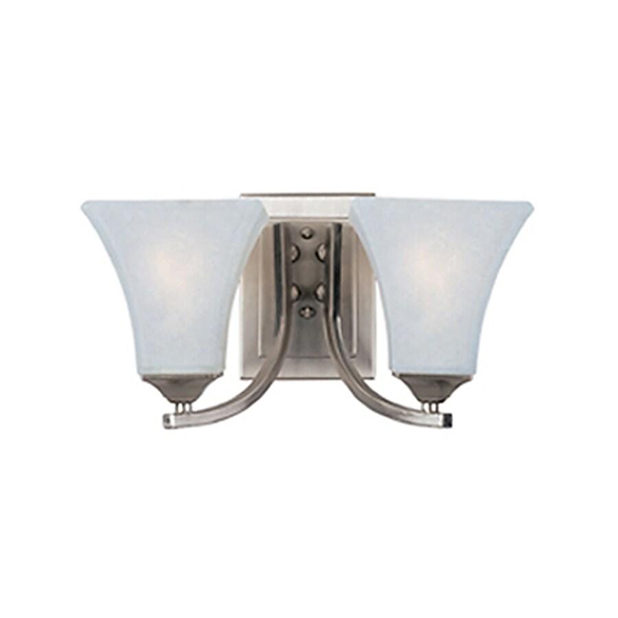 Pyramid Creations Aurora 2-Light 7-in Satin nickel Bell Vanity Light