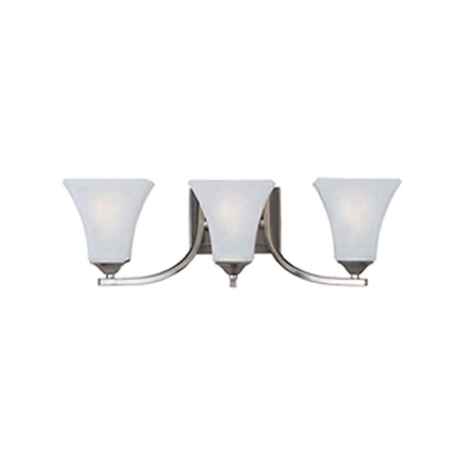 Pyramid Creations Aurora 3-Light 7-in Satin Nickel Bell Vanity Light