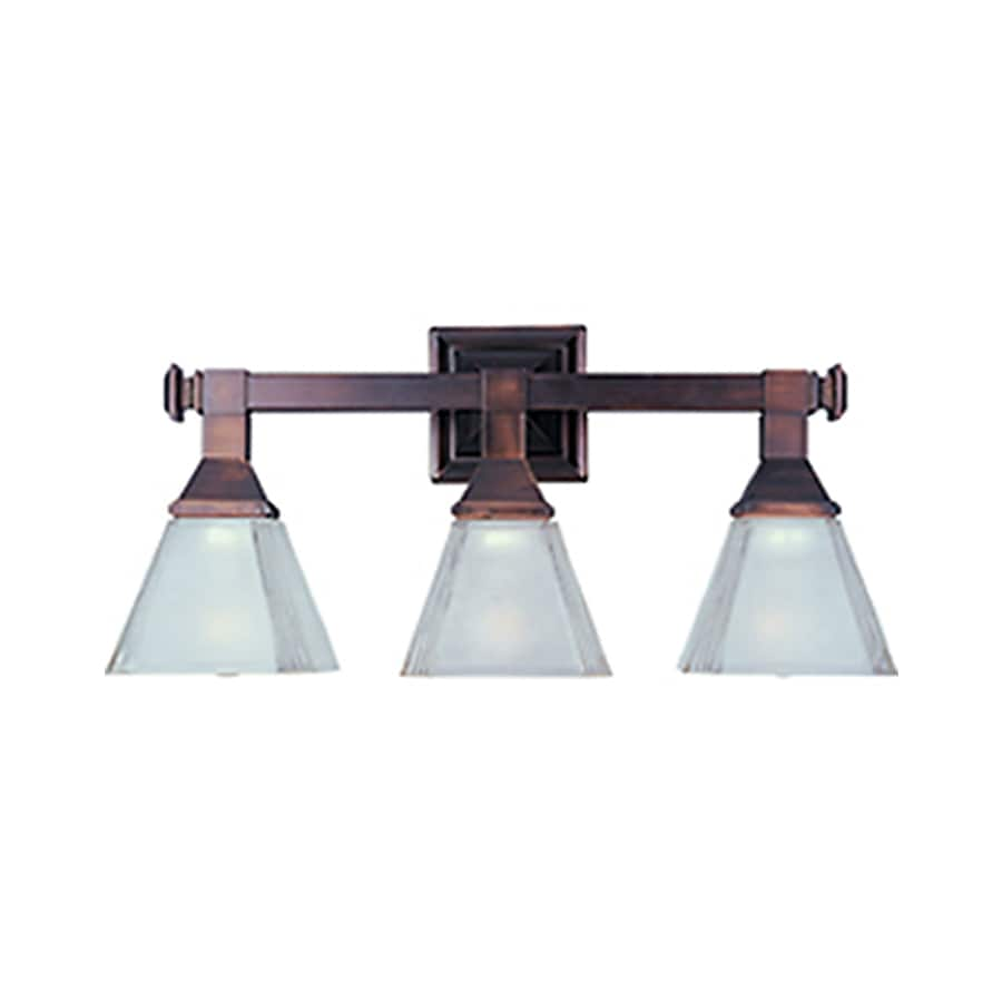 Pyramid Creations Brentwood 3-Light 9.5-in Oil-Rubbed Bronze Cone Vanity Light