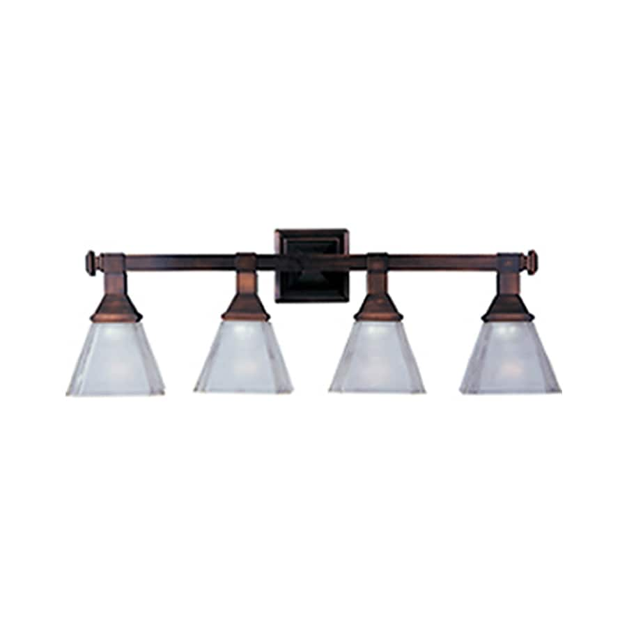 Pyramid Creations Brentwood 4-Light 9.5-in Oil-Rubbed Bronze Cone Vanity Light