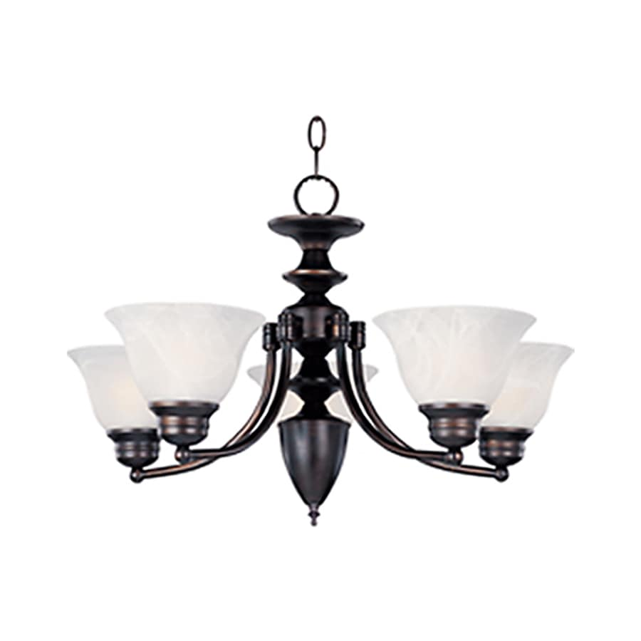 Pyramid Creations Malibu 25-in 5-Light Oil-Rubbed bronze Chandelier