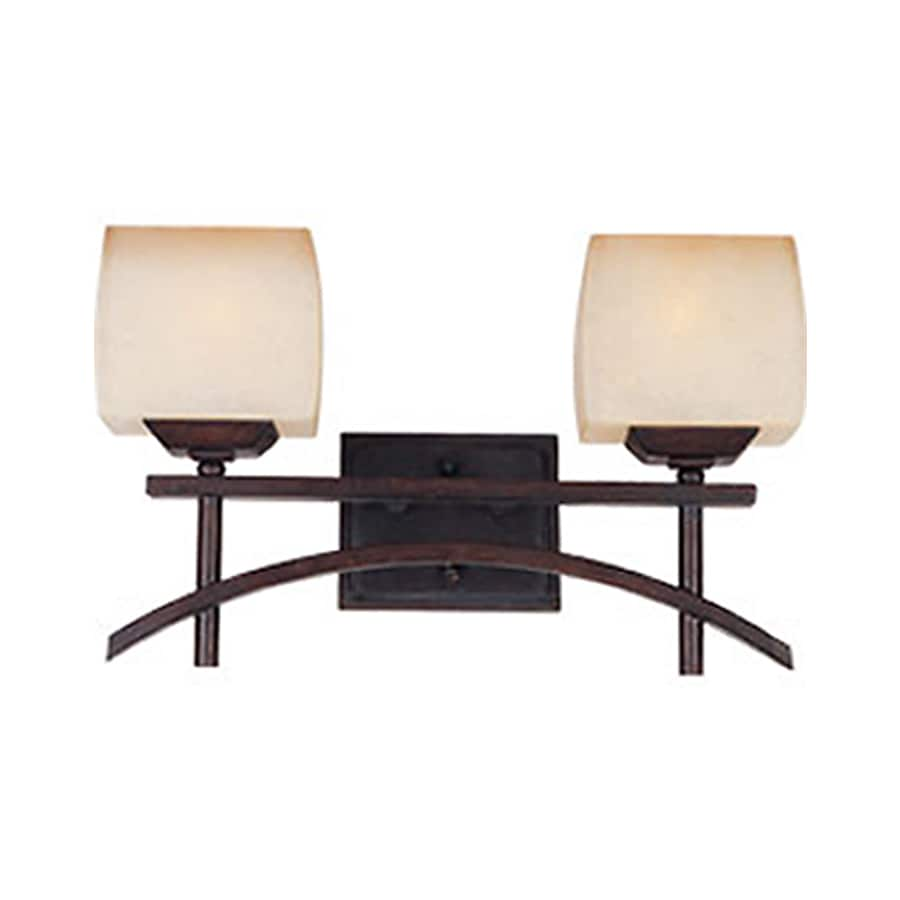 Pyramid Creations Asiana 2-Light Roasted Chestnut Square Vanity Light