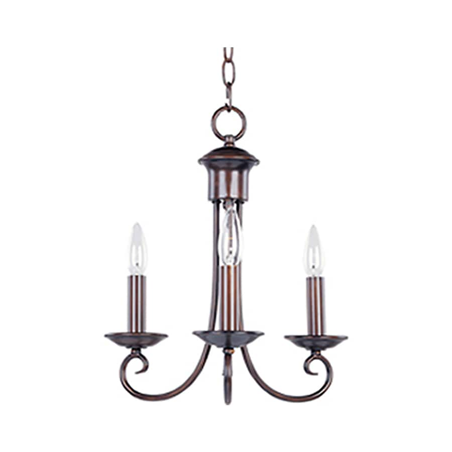 Pyramid Creations Loft 14-in 3-Light Oil-Rubbed Bronze Chandelier