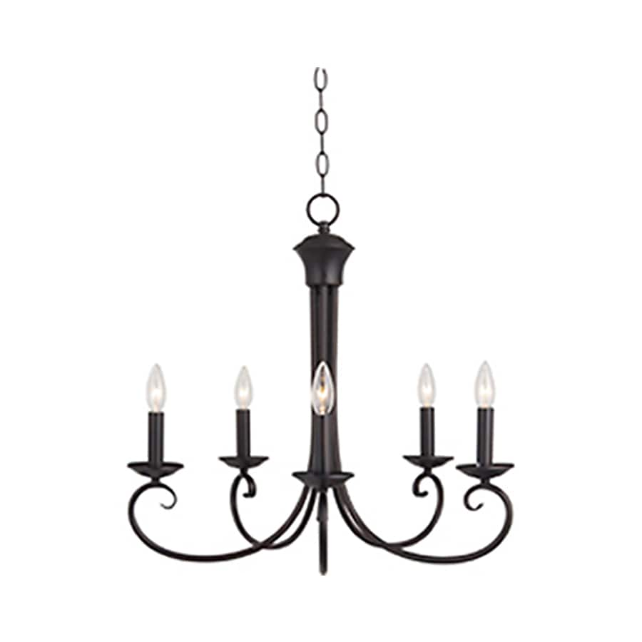 Pyramid Creations Loft 25-in 5-Light Oil-Rubbed bronze Chandelier