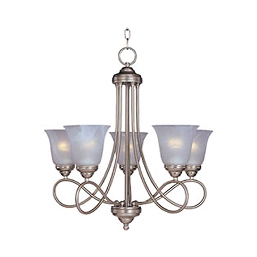 Pyramid Creations Nova 25-in 5-Light Satin Nickel Standard Chandelier