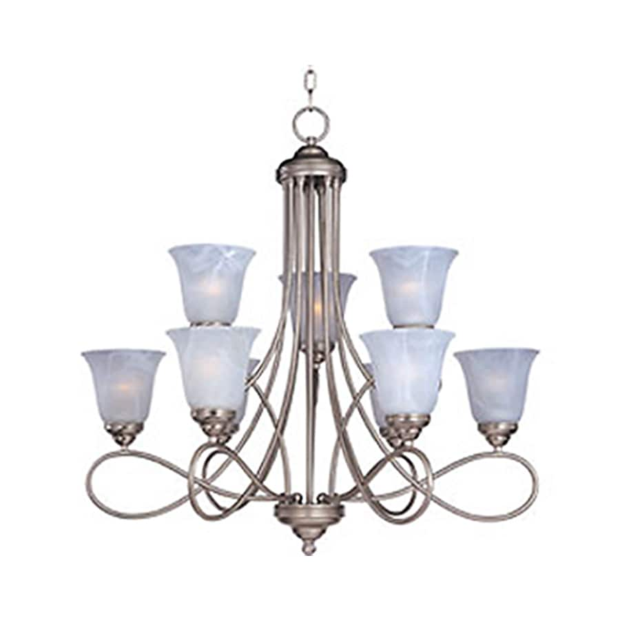 Pyramid Creations Nova 30.5-in 9-Light Satin Nickel Chandelier