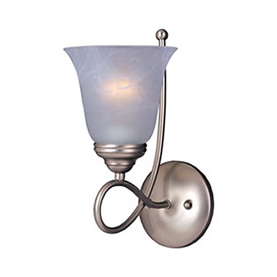 Pyramid Creations Nova 6-in W 1-Light Nickel Arm Wall Sconce