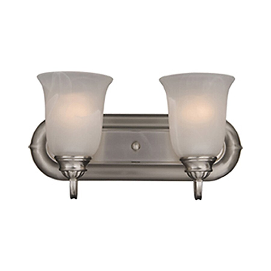 Pyramid Creations Essentialss 2-Light 7.5-in Satin Nickel Urn Vanity Light