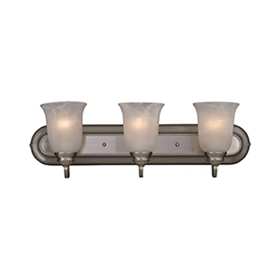 Pyramid Creations Essentialss 3-Light 7.5-in Satin Nickel Vanity Light
