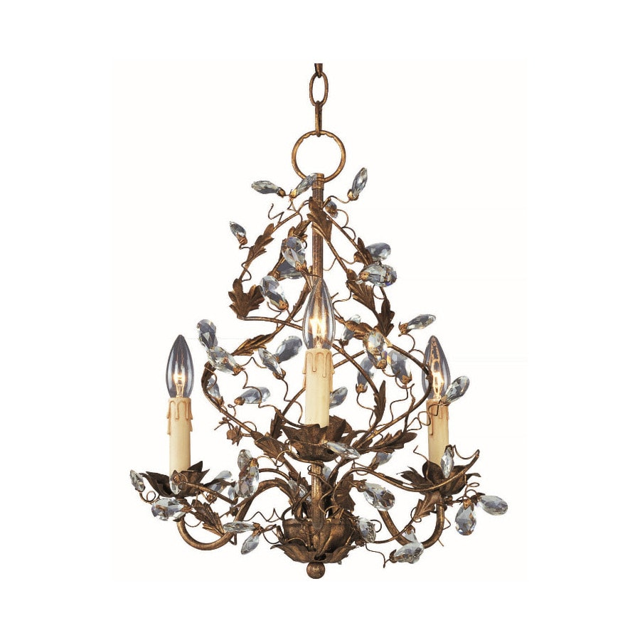 Pyramid Creations Elegante 18.5-in 3-Light Etruscan Gold Chandelier