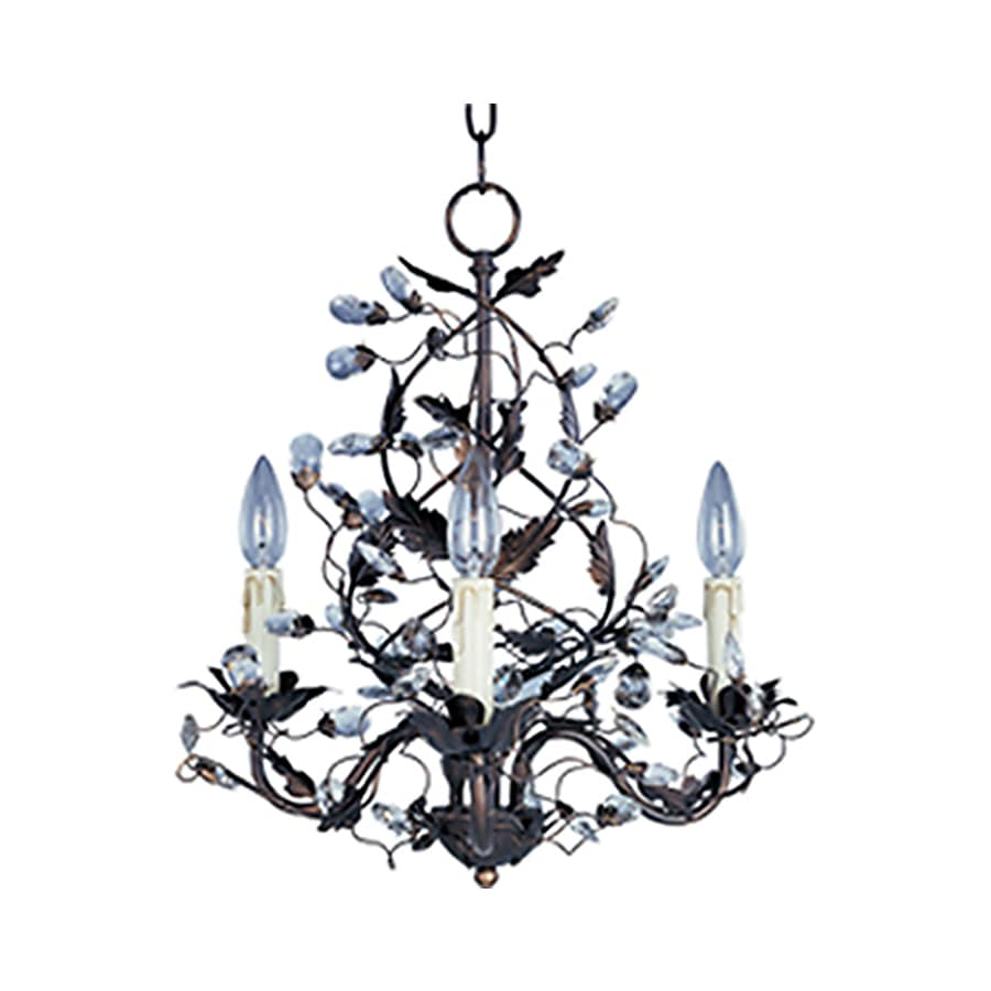 Pyramid Creations Elegante 18.5-in 3-Light Oil-Rubbed Bronze Chandelier