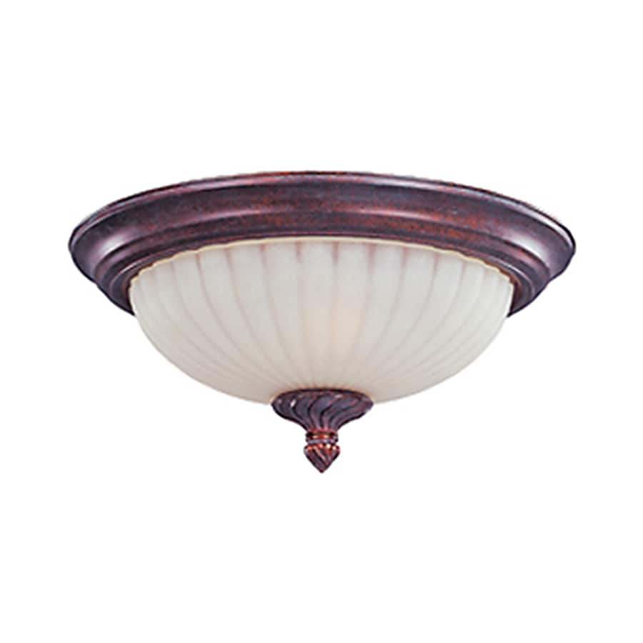 Pyramid Creations 13-in W Greek Bronze Standard Flush Mount Light