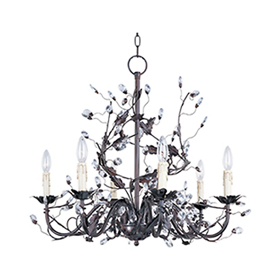 Pyramid Creations Elegante 26.5-in 6-Light Oil-Rubbed Bronze Chandelier