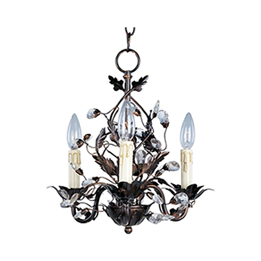 Pyramid Creations Elegante 14-in 3-Light Oil-Rubbed Bronze Chandelier