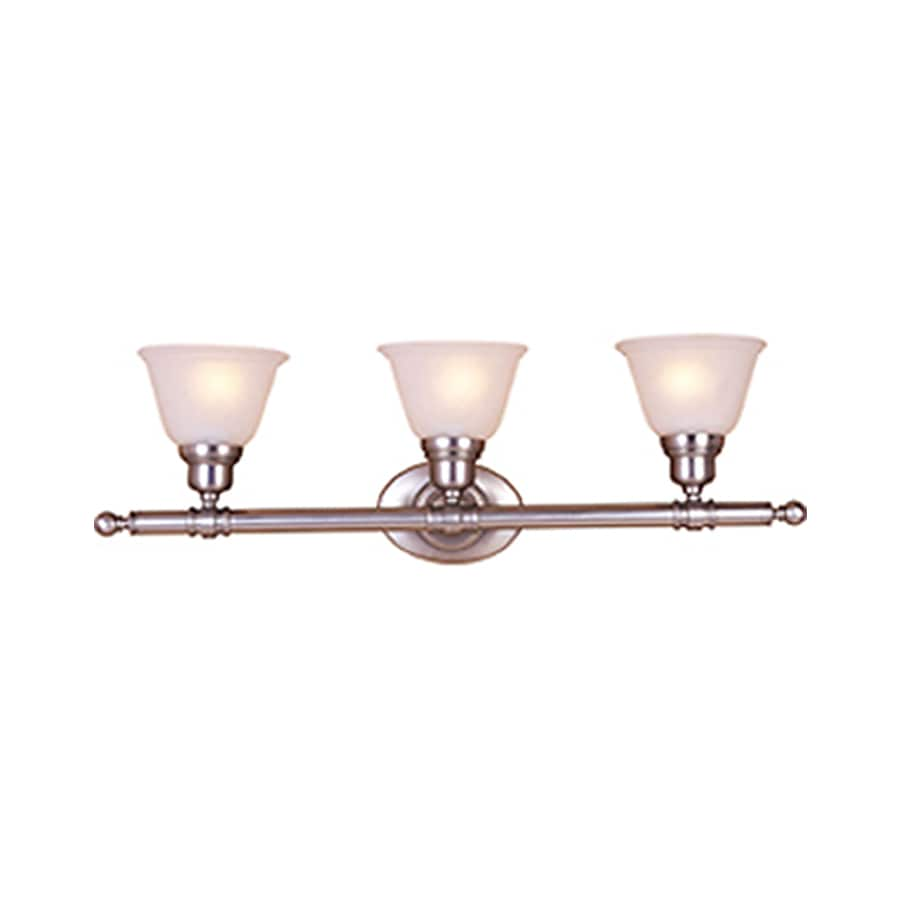 Pyramid Creations Essentialss 3-Light Satin Nickel Bell Vanity Light