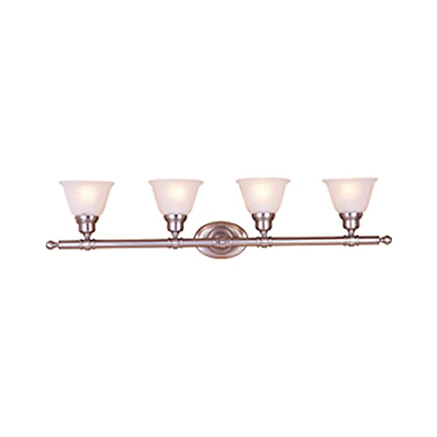 Pyramid Creations Essentialss 4-Light 9.5-in Satin Nickel Bell Vanity Light