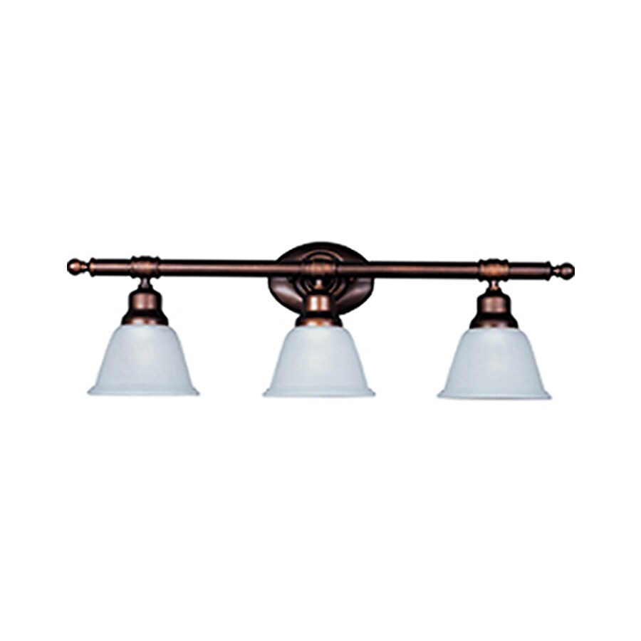 Pyramid Creations Essentialss 3-Light 9.5-in Oil-Rubbed Bronze Bell Vanity Light