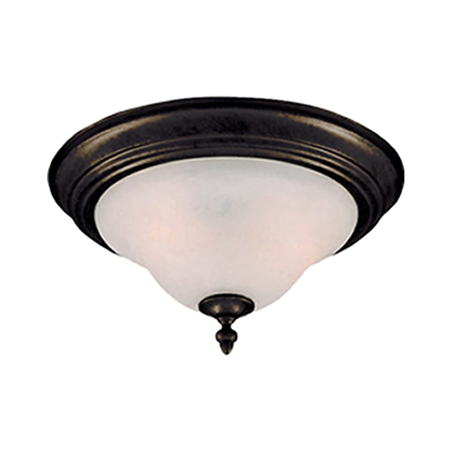 Pyramid Creations 13-in W Kentucky Bronze Ceiling Flush Mount Light