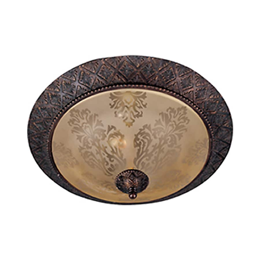 Pyramid Creations 19-in W Oil-Rubbed Bronze Ceiling Flush Mount Light