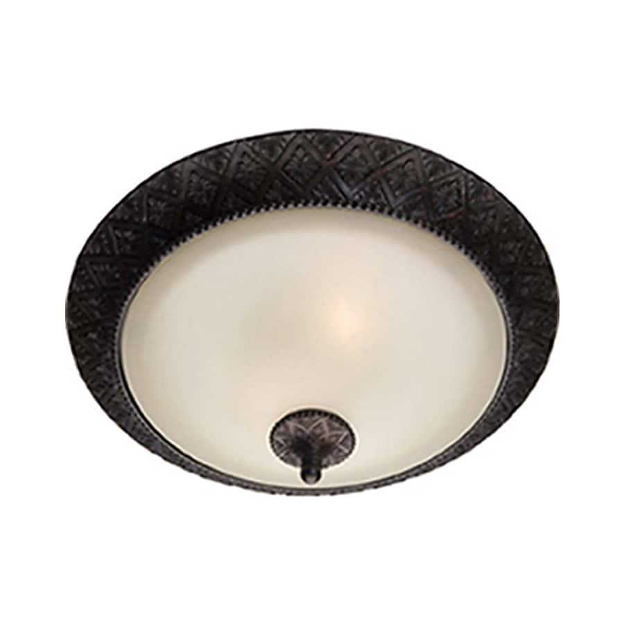 Pyramid Creations -Pack 19-in W Oil-Rubbed bronze Flush Mount Light