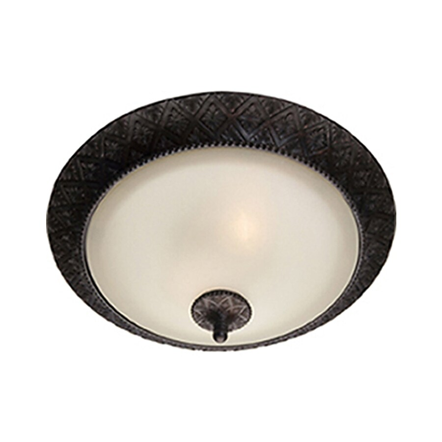 Pyramid Creations 19-in W Oil-Rubbed Bronze Standard Flush Mount Light