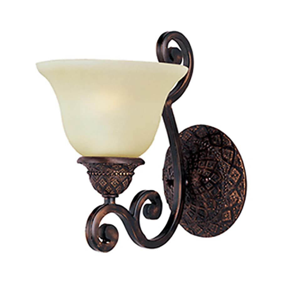 Pyramid Creations Symphony 7-in W 1-Light Bronze Arm Wall Sconce