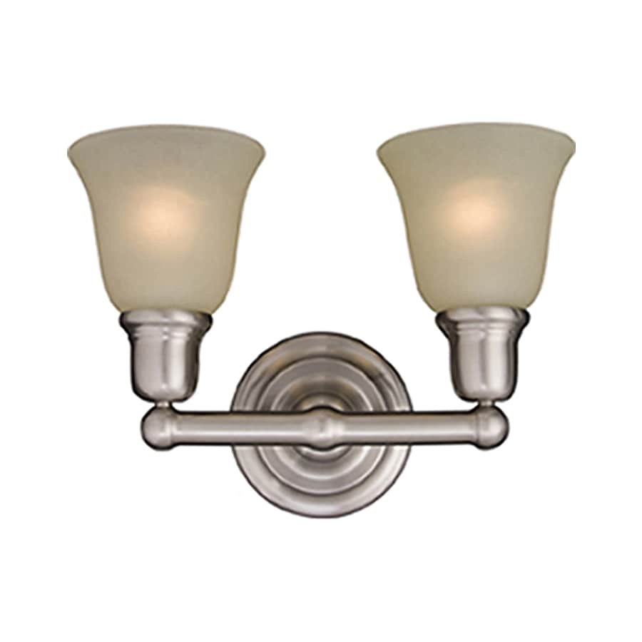 Vanity Lights Satin Nickel : Shop Pyramid Creations Bel Air 2-Light 10-in Satin Nickel Bell Vanity Light at Lowes.com