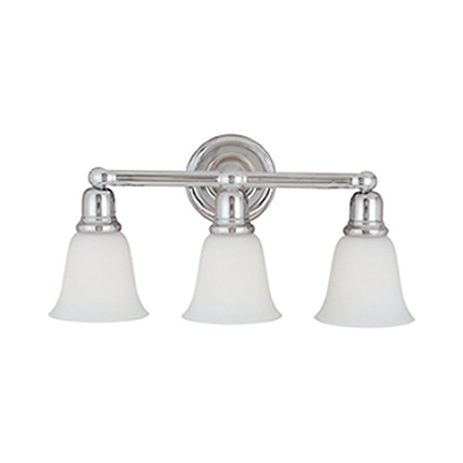 Pyramid Creations Bel Air 3-Light 10-in Polished Chrome Bell Vanity Light