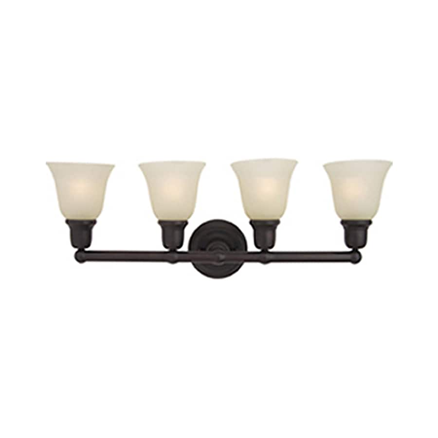 Pyramid Creations Bel Air 4-Light 10-in Oil-Rubbed Bronze Bell Vanity Light