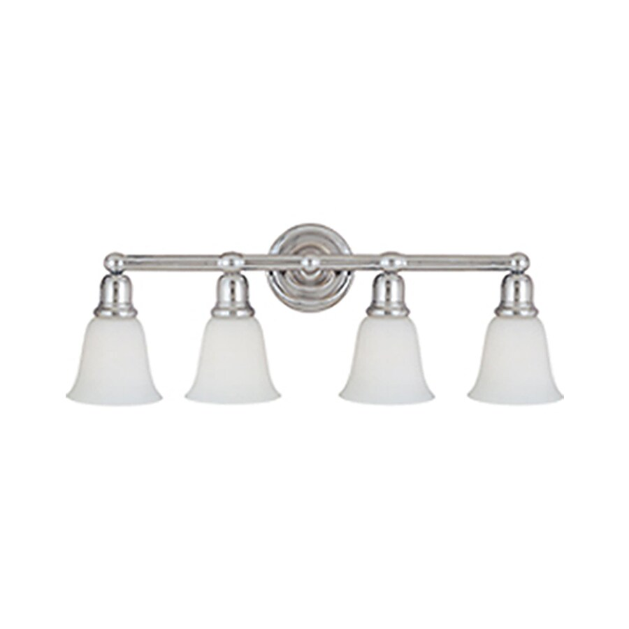 Pyramid Creations Bel Air 4-Light Polished Chrome Bell Vanity Light