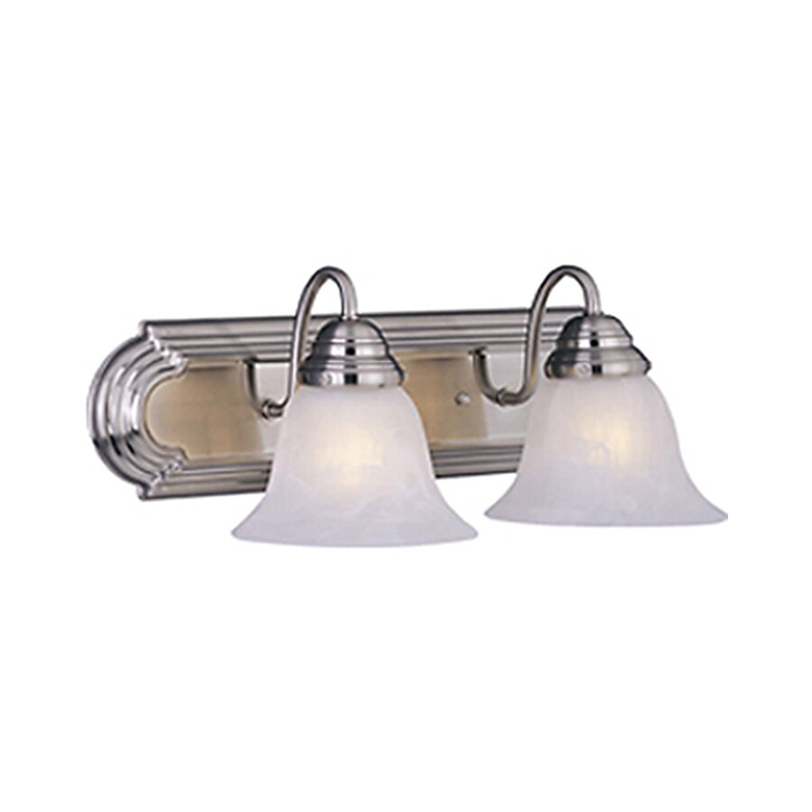 Pyramid Creations Essentialss 2-Light 7-in Satin Nickel Bell Vanity Light