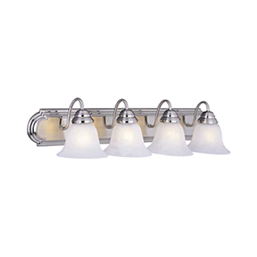 Pyramid Creations Essentialss 4-Light 7-in Satin nickel Bell Vanity Light