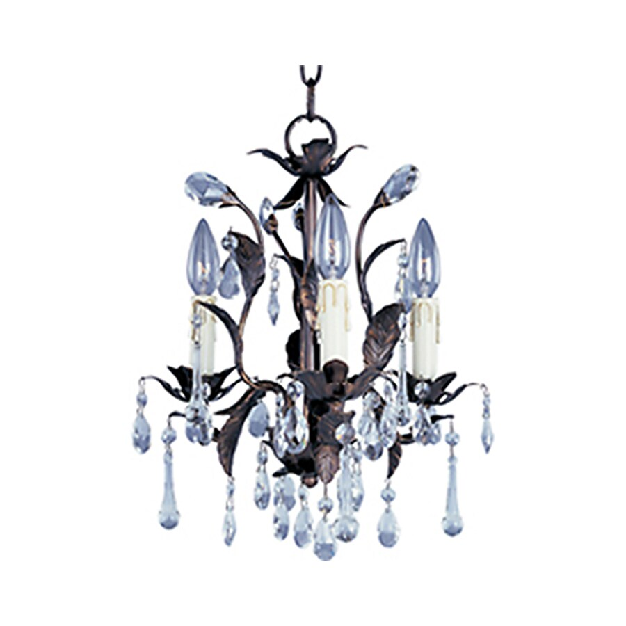 Pyramid Creations Grove 14-in 3-Light Oil-Rubbed bronze Chandelier
