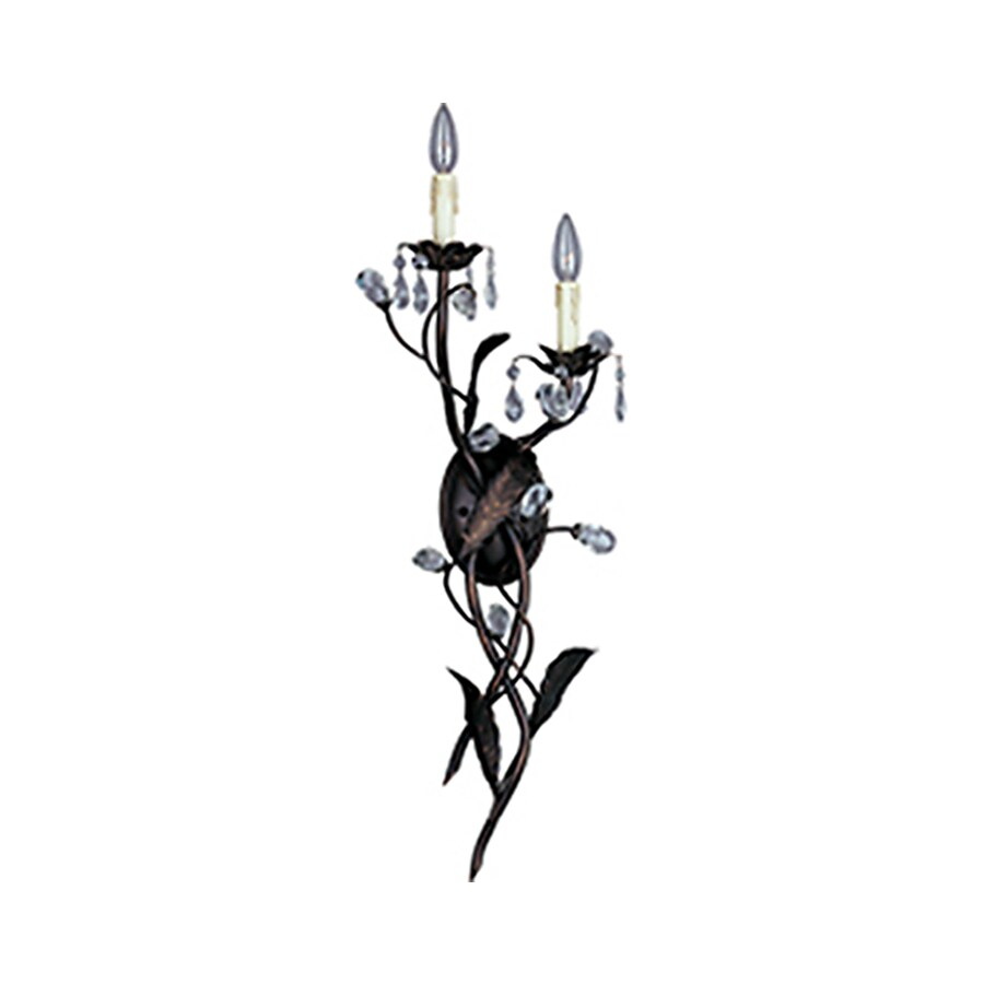 Pyramid Creations Grove 10-in W 2-Light Bronze Arm Wall Sconce