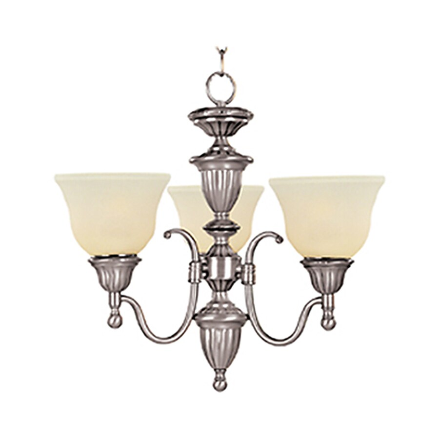 Pyramid Creations Soho 19.5-in 3-Light Satin Nickel Chandelier