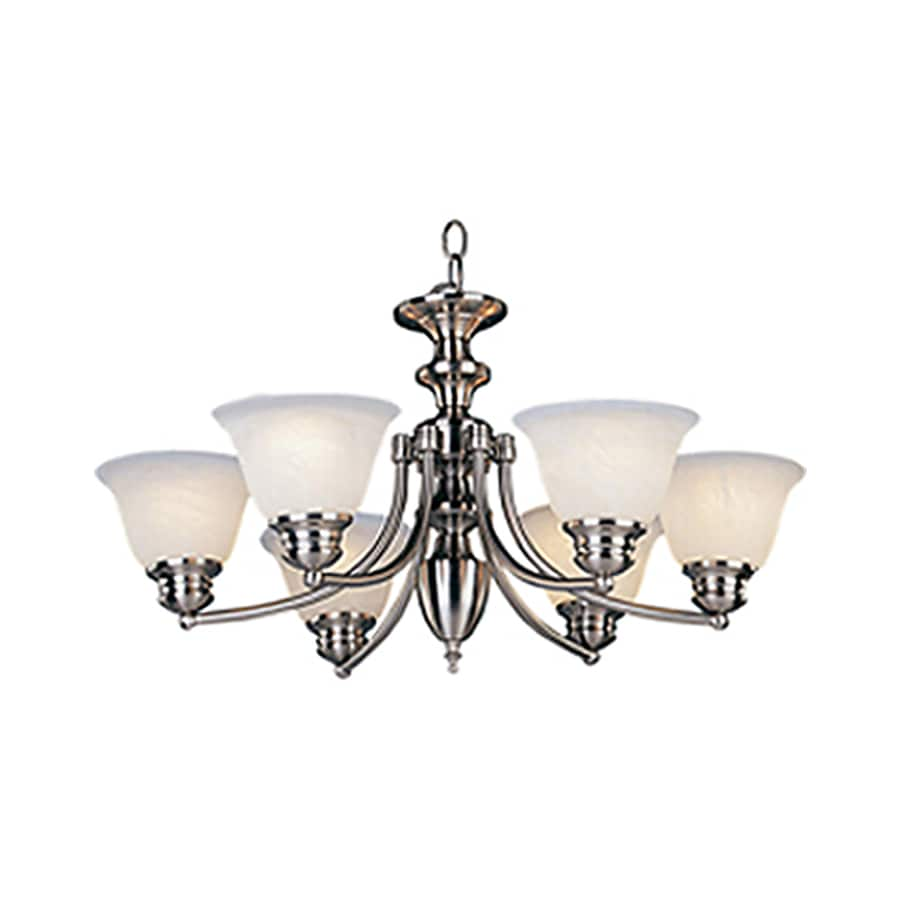 Pyramid Creations Malibu 26-in 6-Light Satin Nickel Chandelier