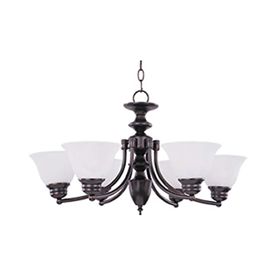 Pyramid Creations Malibu 26-in 6-Light Oil-Rubbed Bronze Standard Chandelier
