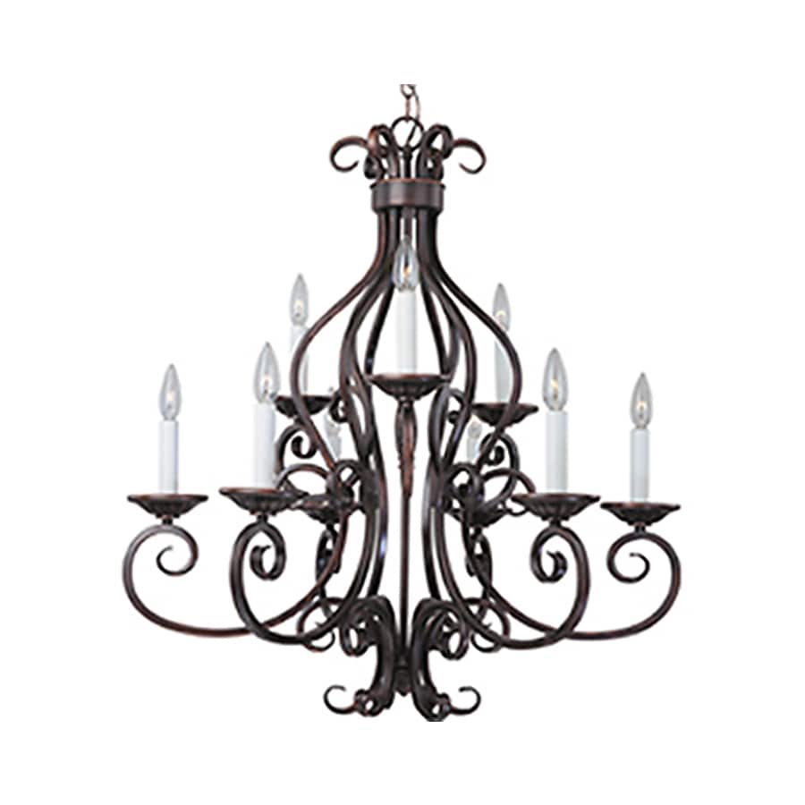 Pyramid Creations Manor 29-in 9-Light Oil-Rubbed Bronze Chandelier