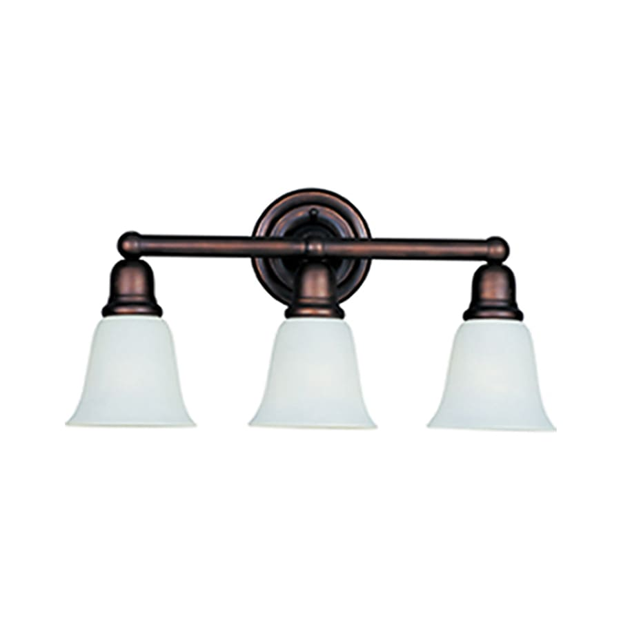 Pyramid Creations Bel Air 3-Light 10-in Oil-Rubbed bronze Bell Vanity Light