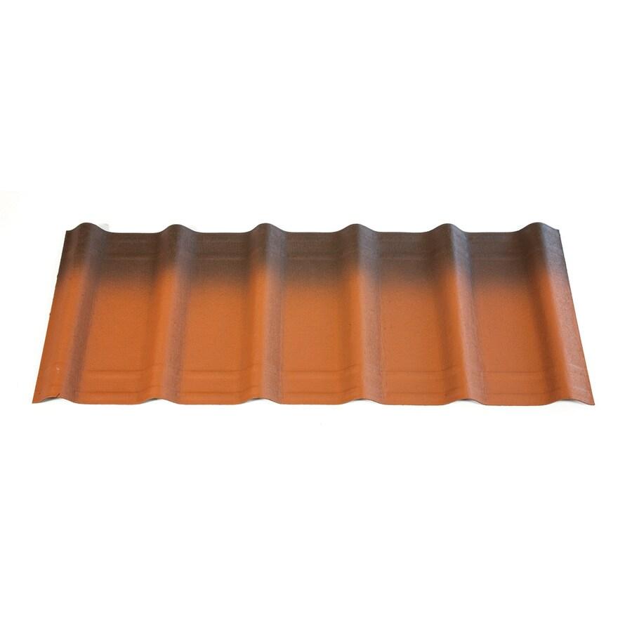 ONDUVILLA 3.5-ft x 1.33-ft Ribbed Asphalt Roof Panel