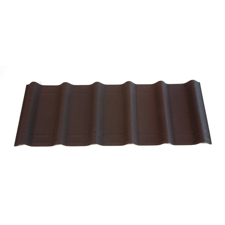 ONDUVILLA 3.5-ft x 1.33-ft Ribbed Asphalt Roof Panel