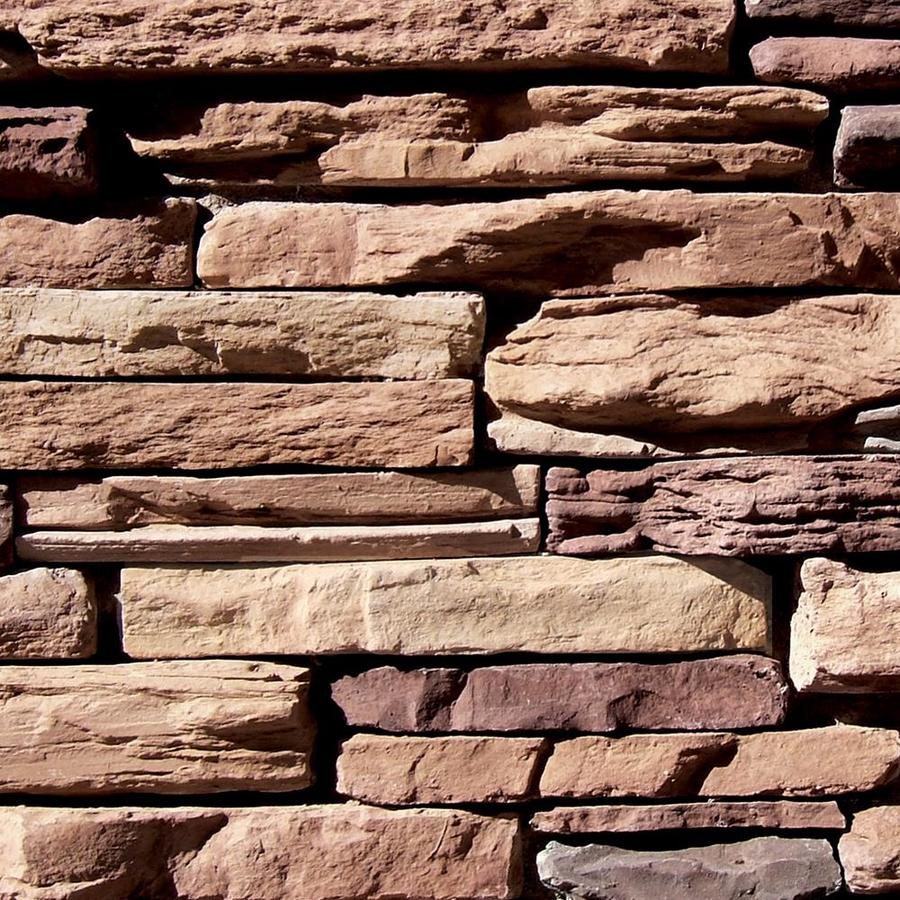 Coronado Stone Products Ledgestone 12.5-sq ft Carmel Mountain Faux Stone Veneer