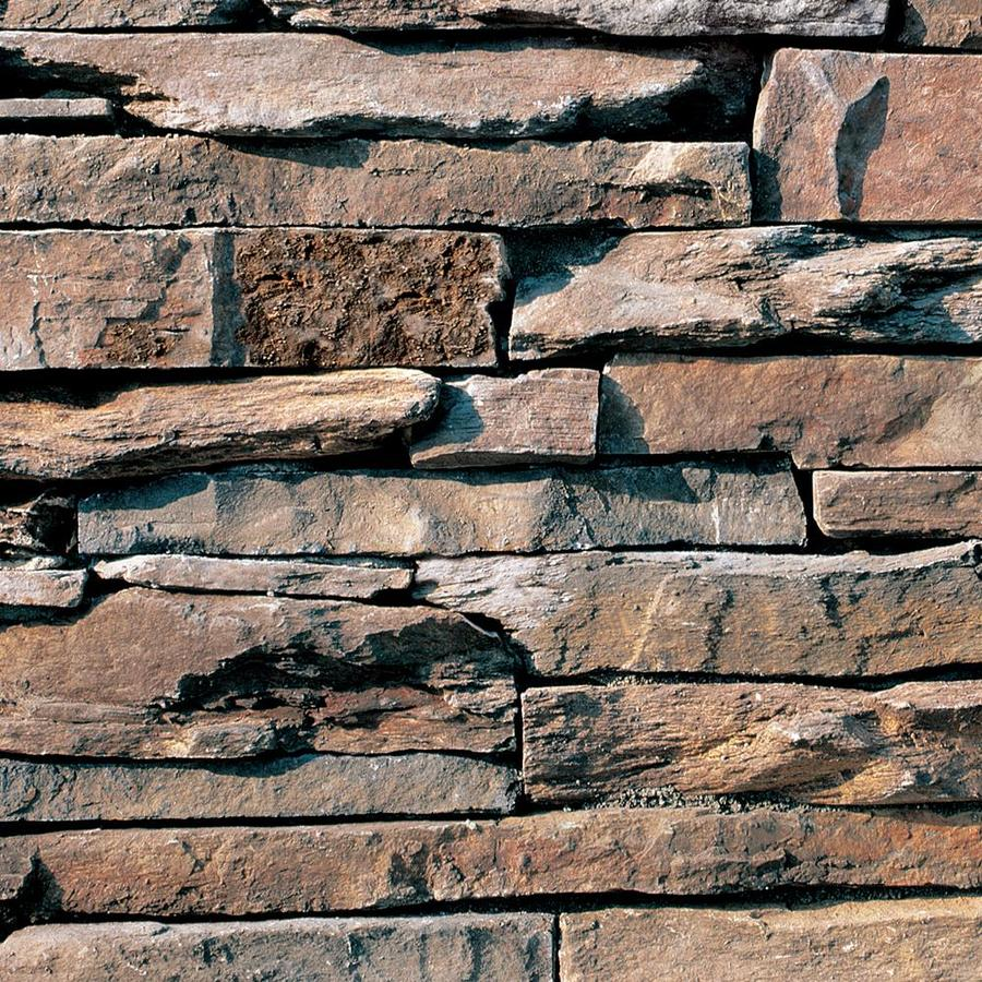 Coronado Stone Products Ledgestone 12.5-sq ft Dakota Brown Faux Stone Veneer