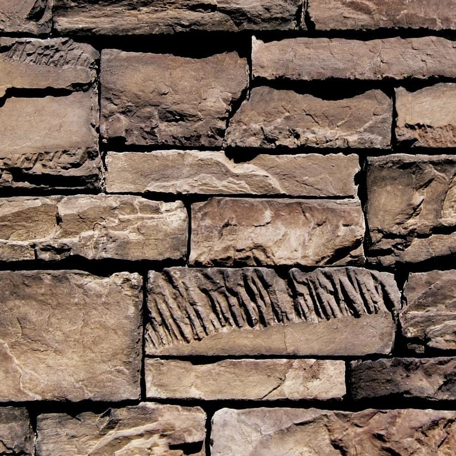 Coronado Stone Products Ledgestone 15-sq ft Dakota Brown Faux Stone Veneer