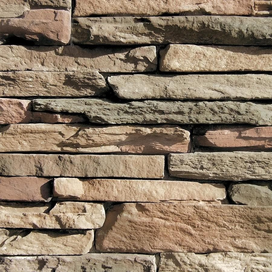 Shop coronado ledgestone 100 sq ft chablis manufactured for Manufactured veneer stone