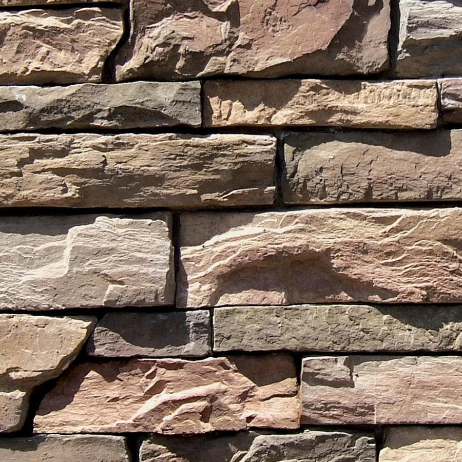 Stone Veneer Products : Shop coronado stone products ledgestone sq ft burnt