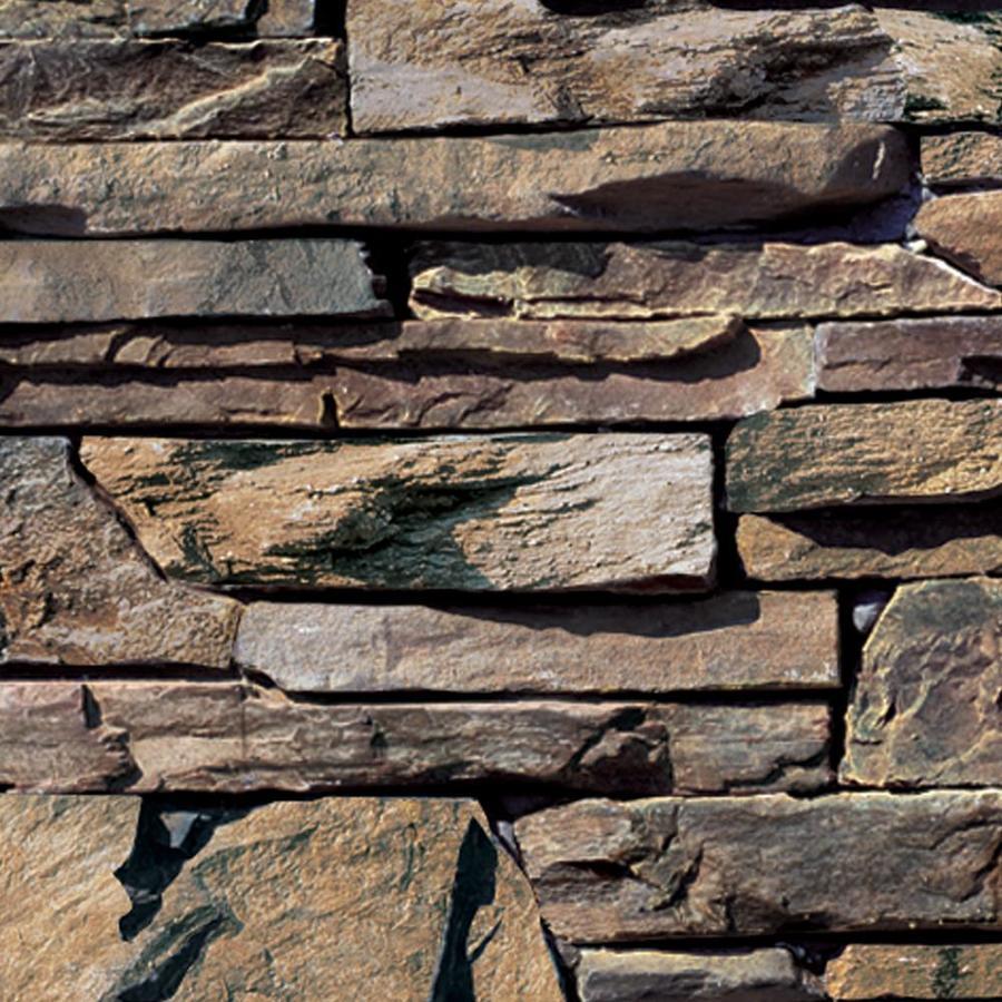 Coronado Stone Products Ledgestone 15-sq ft Dakota Brown Faux Stone Veneer