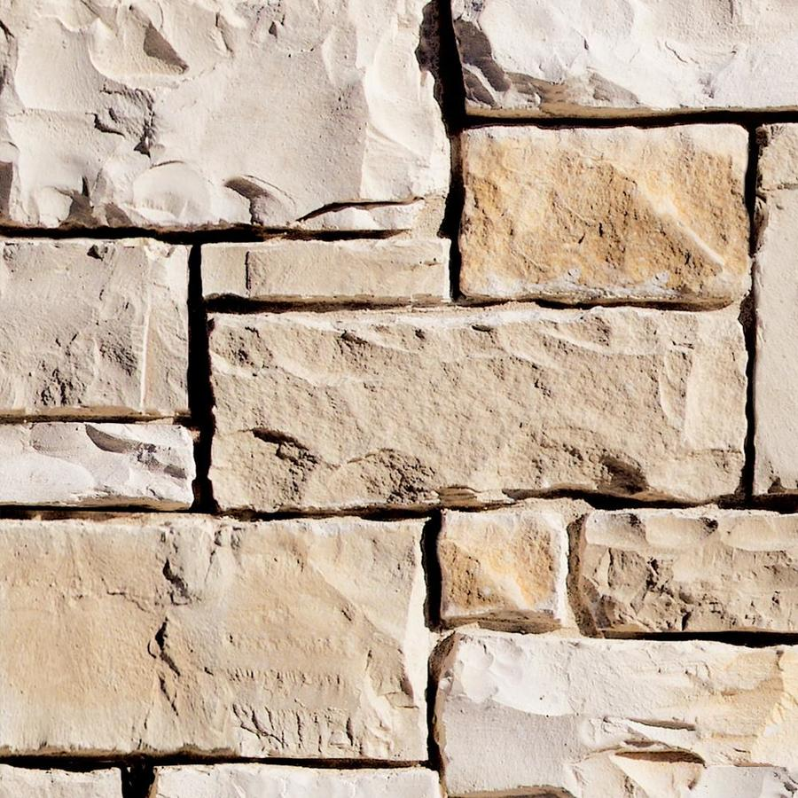 Coronado Stone Products Ashlar and Rubble Texas Cream Outside Corner Stone Veneer Trim
